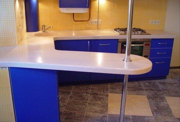 как разместить барную стойку на маленькой кухне