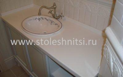 Столешница в ванную комнату, толщина 40 мм