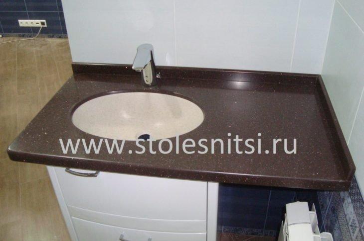 Столешница для ванной комнаты, раковина из искусственного камня